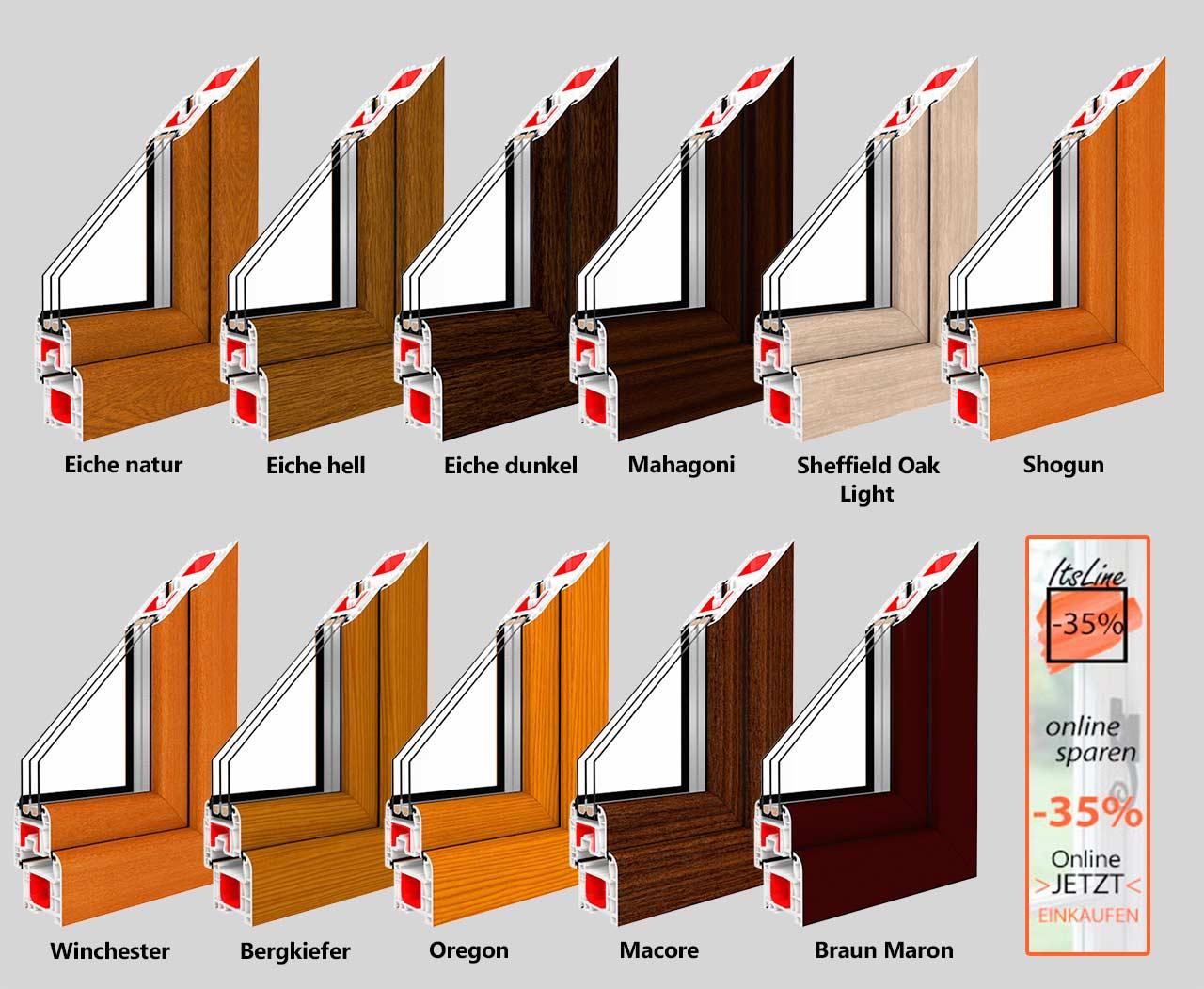 Ral fensterfarben fenster mit ral farben gestalten und - Kunststofffenster oder alufenster ...