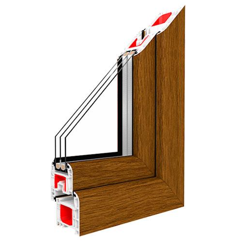 kunststofffenster golden oak nach ma kaufen. Black Bedroom Furniture Sets. Home Design Ideas
