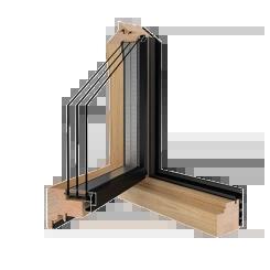 Holz-Alu Fensterprofil Drutex
