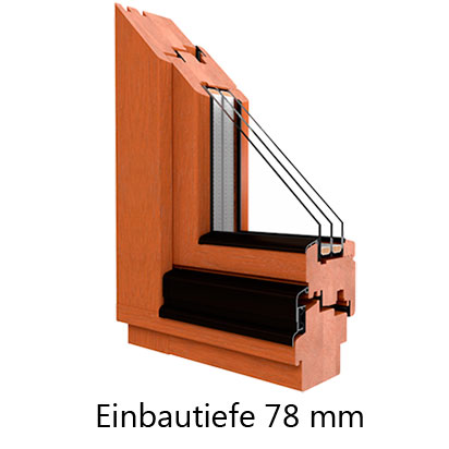 Holzfenster Meranti Softline 78