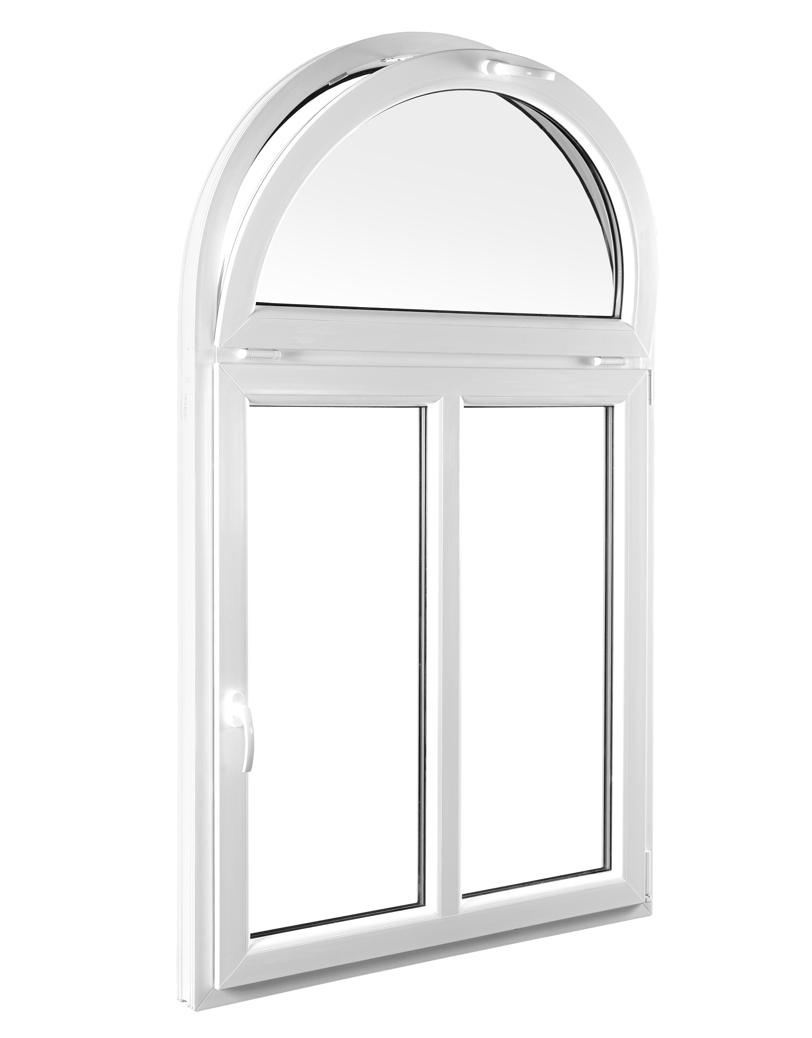 Raumbelüftung mit Oberlichter-Rundbogenfenster