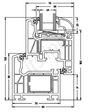 kunststofffenster sch co 5 kammer profil 1000x700. Black Bedroom Furniture Sets. Home Design Ideas