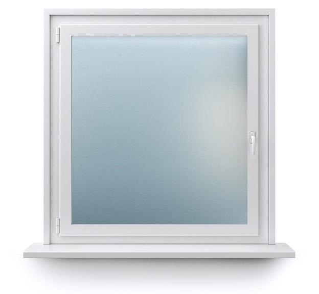 Fenster mit Milchlas Float Matt