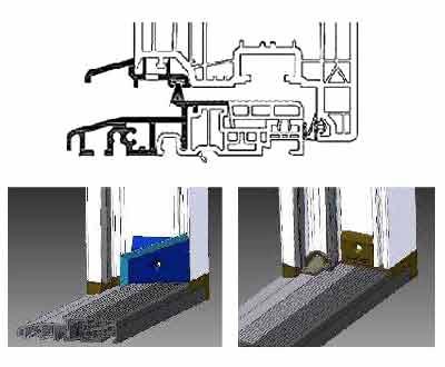 Über eine optimale thermische Trennung verfügt die PVC-Aluminiumschwelle von Schüco LivIng
