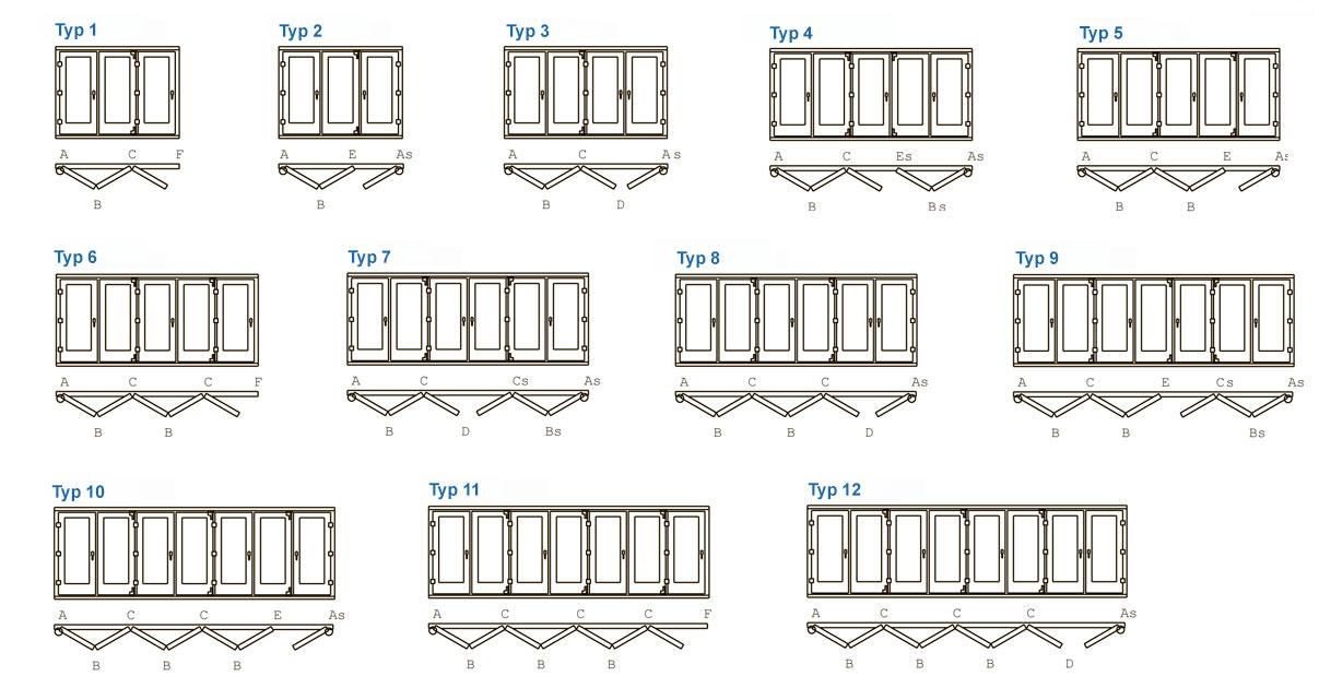 Gut gemocht Faltschiebetüren kaufen - Außenbereich -Terrasse, Balkon, Wintergarten CB24
