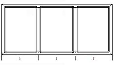 kunststoff fenster 3 teilig fest salamander bluevolution 2100x1000. Black Bedroom Furniture Sets. Home Design Ideas
