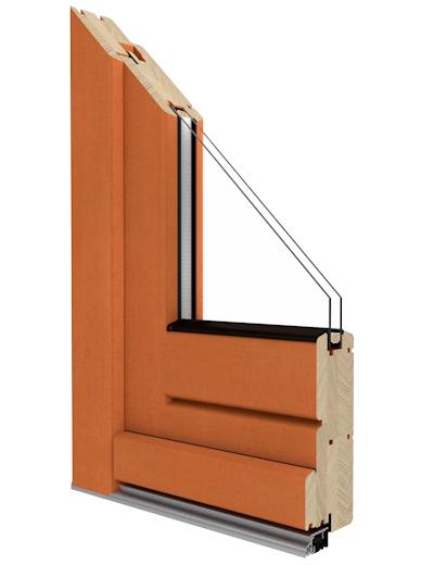 softline 68 holzprofil kologische eingangst r mit super w rmed mmung. Black Bedroom Furniture Sets. Home Design Ideas