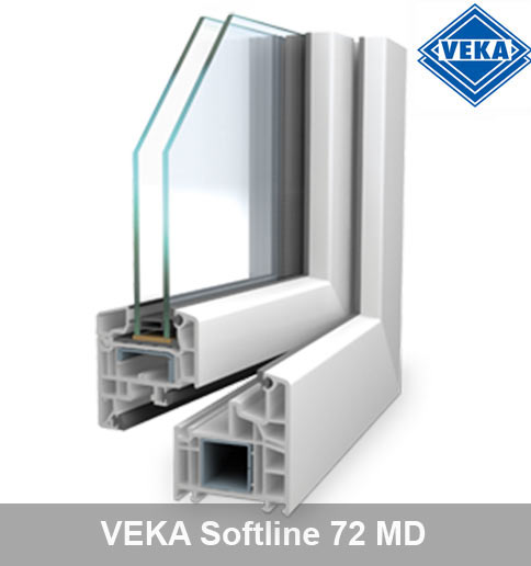 Kunststofffenster Veka softline 70MD