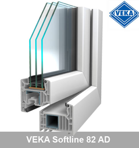 Top VEKA Softline 82 AD Fenster online kaufen ZE47