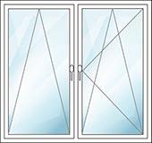 Fenster 2 Flugelig Doppelflugelfenster Aus Kunststoff Holz