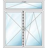 Oberlichtfenster zweiteilig K/DL/DKR