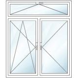 Oberlichtfenster zweiteilig oben kipp