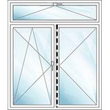 Oberlichtfenster ohne Pfosten kipp