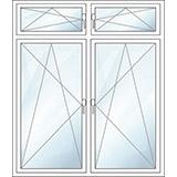 Oberlichtfenster zweiteilig oben dreh-kipp