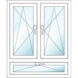 fenster 2 fl gelig doppelfl gelfenster aus kunststoff holz alu kaufen. Black Bedroom Furniture Sets. Home Design Ideas