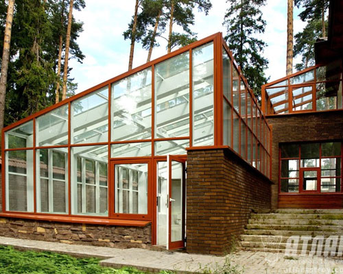Wintergarten Aluminiumsysteme Mit Intergrierten Fenstern