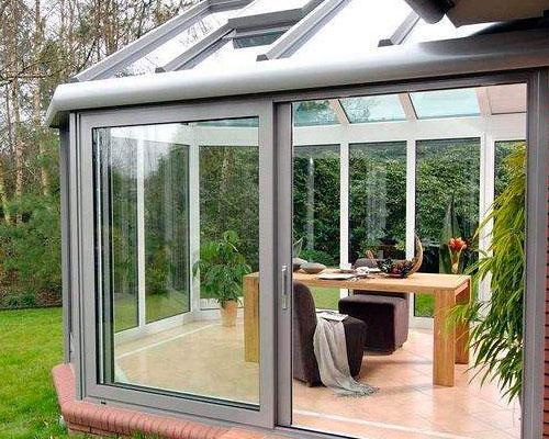 Super Wintergarten - Aluminiumsysteme mit intergrierten Fenstern und Türen WZ55